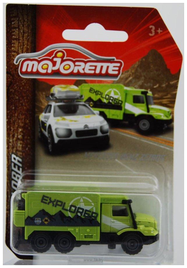 Фотографии Majorette Explorer 212057601 Mercedes-Benz Zetros (зеленый)