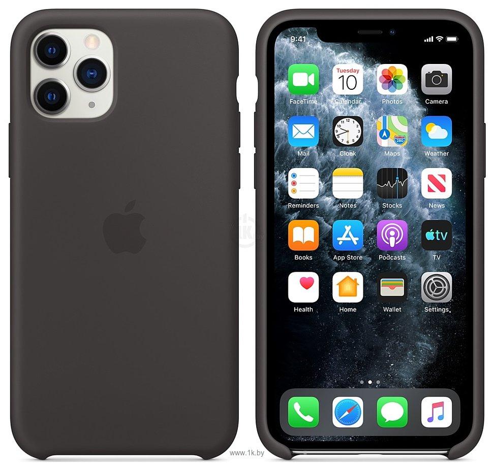 Фотографии Apple Silicone Case для iPhone 11 Pro (черный)