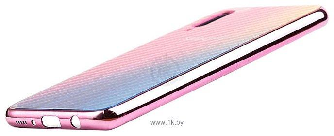 Фотографии EXPERTS Aurora Glass для Samsung Galaxy A70 с LOGO (розовый)