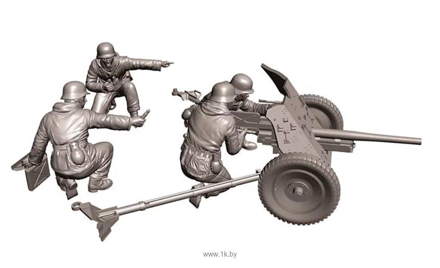 Фотографии Звезда Немецкая противотанковая пушка ПАК-36 с расчетом