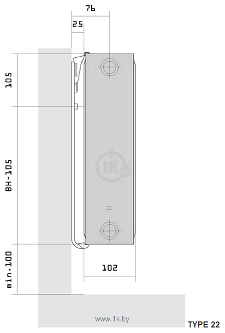 Фотографии Purmo Compact Ventil CV22 500x1100