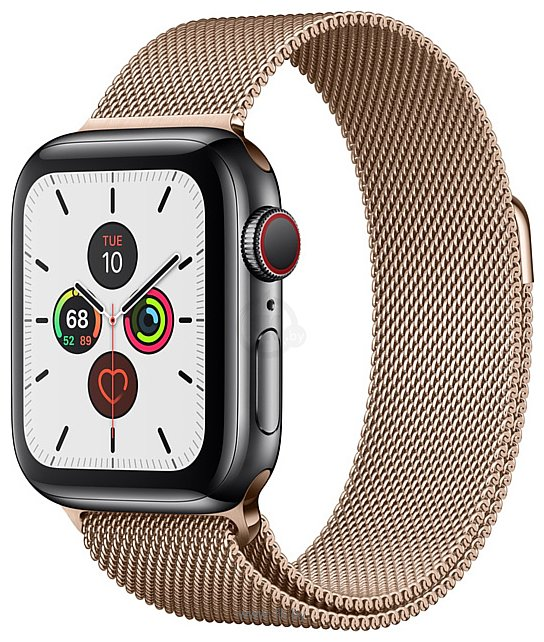 Фотографии Apple Watch Series 5 40mm GPS + Cellular Stainless Steel Case with Milanese Loop