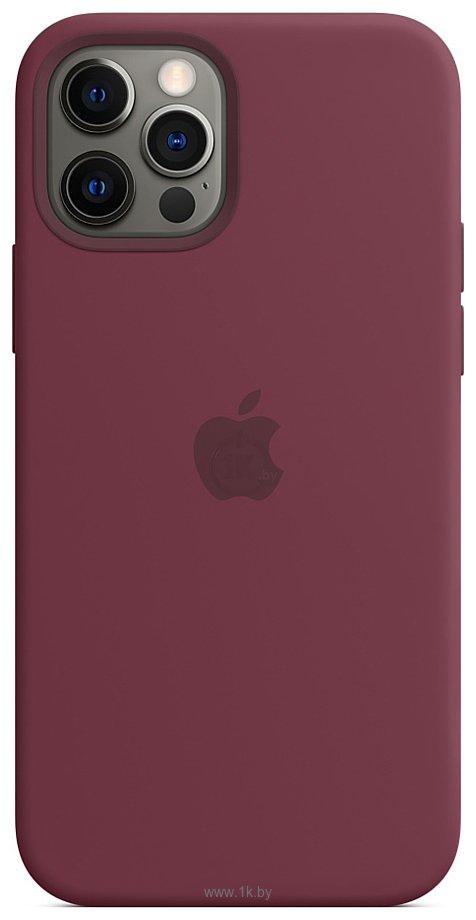 Фотографии Apple MagSafe Silicone Case для iPhone 12/12 Pro (сливовый)