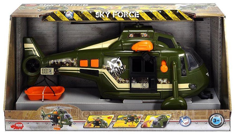 Фотографии DICKIE Военный вертолет с лебедкой 20 330 8363