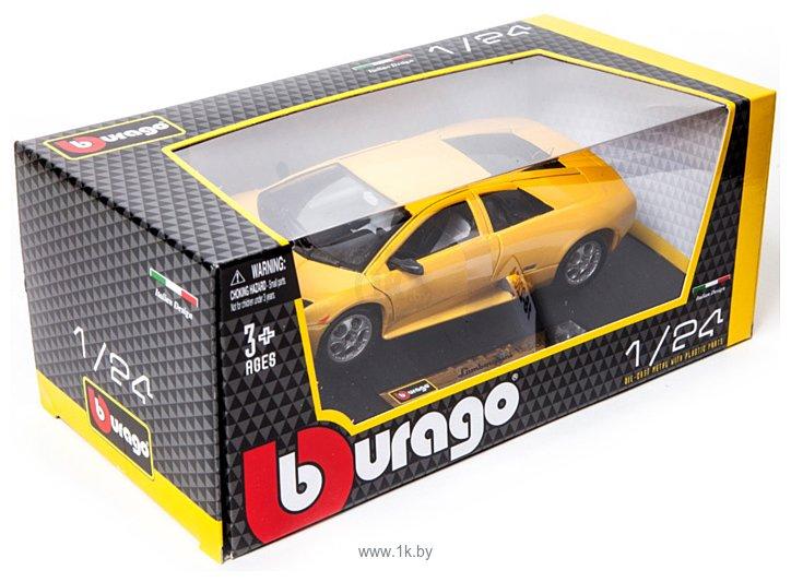 Фотографии Bburago Bijoux Lamborghini Murcielago 1:24 18-22054 (желтый)