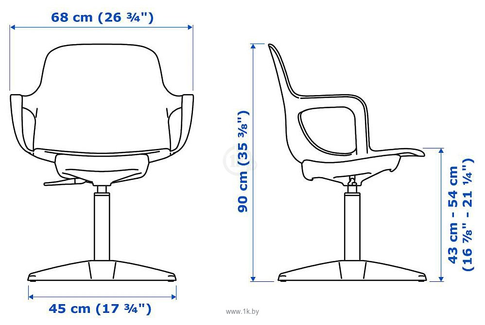 Фотографии Ikea Одгер (антрацит) 403.952.74