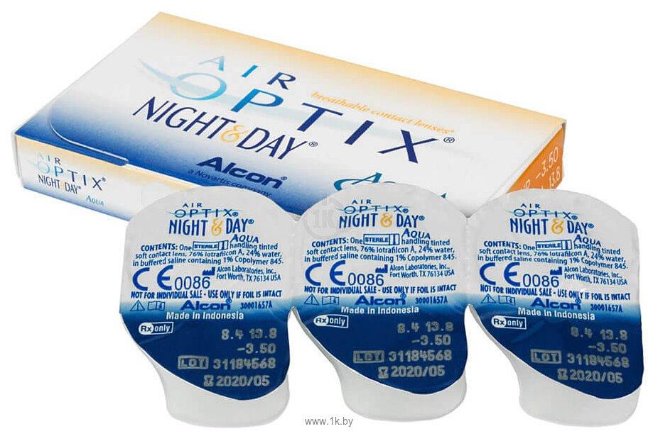 Фотографии Alcon Air Optix Night & Day Aqua +4.5 дптр 8.6 mm