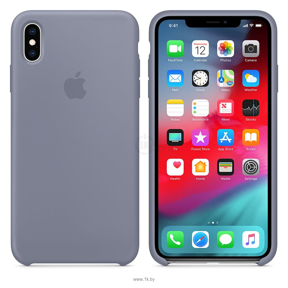 Фотографии Apple Silicone Case для iPhone XS Lavender Gray