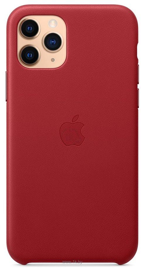 Фотографии Apple Leather Case для iPhone 11 Pro (красный)