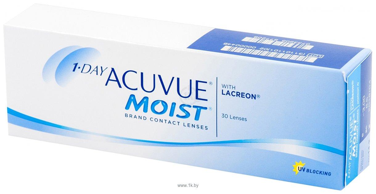 Фотографии Acuvue 1-Day Acuvue Moist -3.25 дптр 8.5 mm