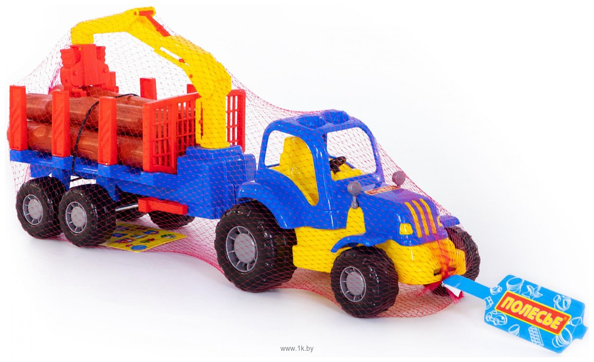 Фотографии Полесье Крепыш трактор с полуприцепом-лесовозом 44815