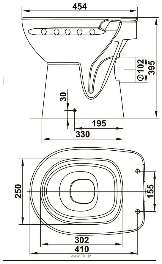 Фотографии Керамин Альбано R c жестким сиденьем и микролифтом