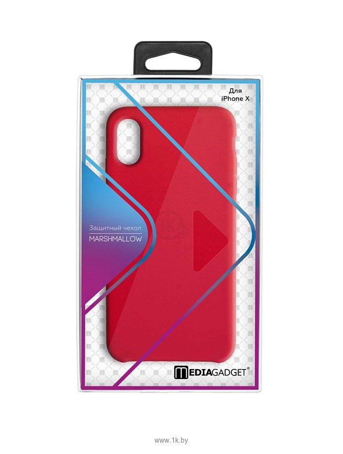 Фотографии MediaGadget Marshmallow для iPhone X (красный)
