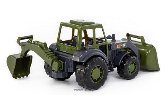 Фотографии Полесье Мастер трактор-экскаватор военный РБ 49285