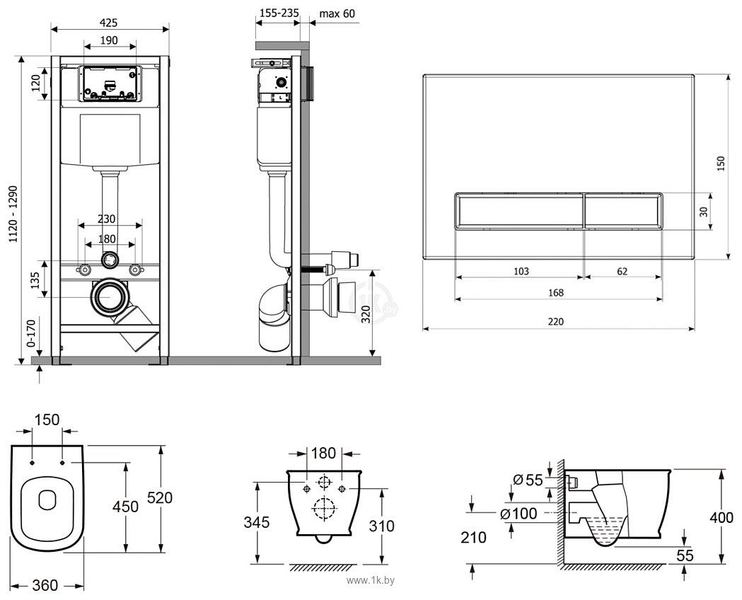 Фотографии Lavinia Boho Relfix Bell Pro Rimless 6 в 1 75110001 (венге пластик)