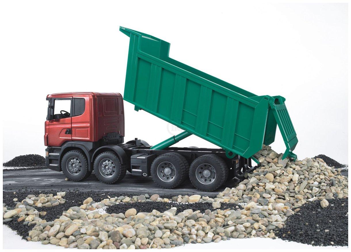 Фотографии Bruder Scania R-series Tipper truck 03550