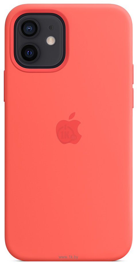 Фотографии Apple MagSafe Silicone Case для iPhone 12/12 Pro (розовый цитрус)