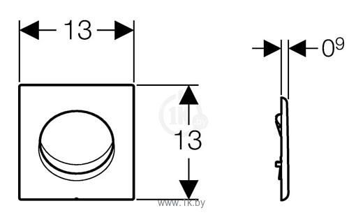 Фотографии Geberit Sigma 01 HyTronic 116.031.21.5