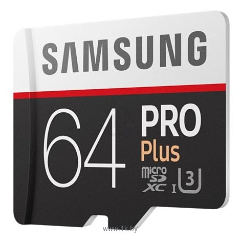Фотографии Samsung microSDXC PRO Plus 100MB/s 64GB + SD adapter