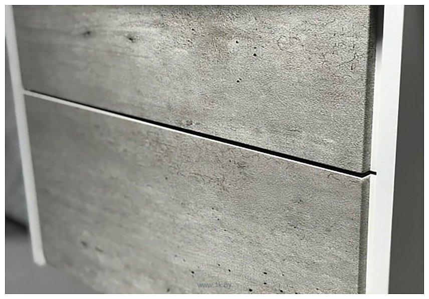 Фотографии Roca Тумба Ronda 60 ZRU9303002 с умывальником Gap 60 (бетон/белый)
