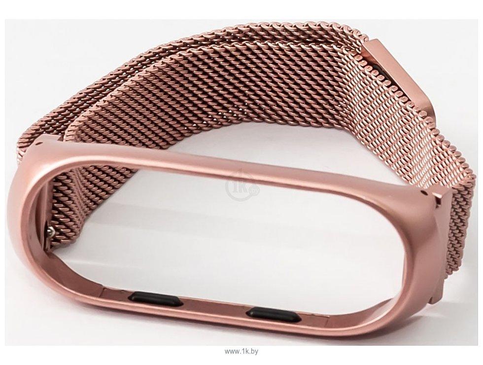 Фотографии Xiaomi Milanese Magnetic для Mi Band 3 (розовое золото)