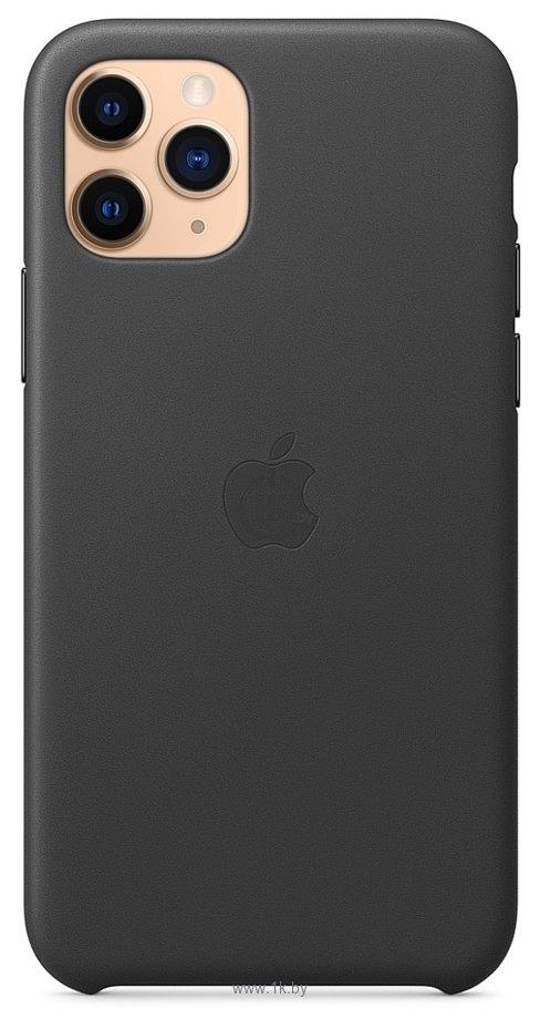 Фотографии Apple Leather Case для iPhone 11 Pro Max (черный)