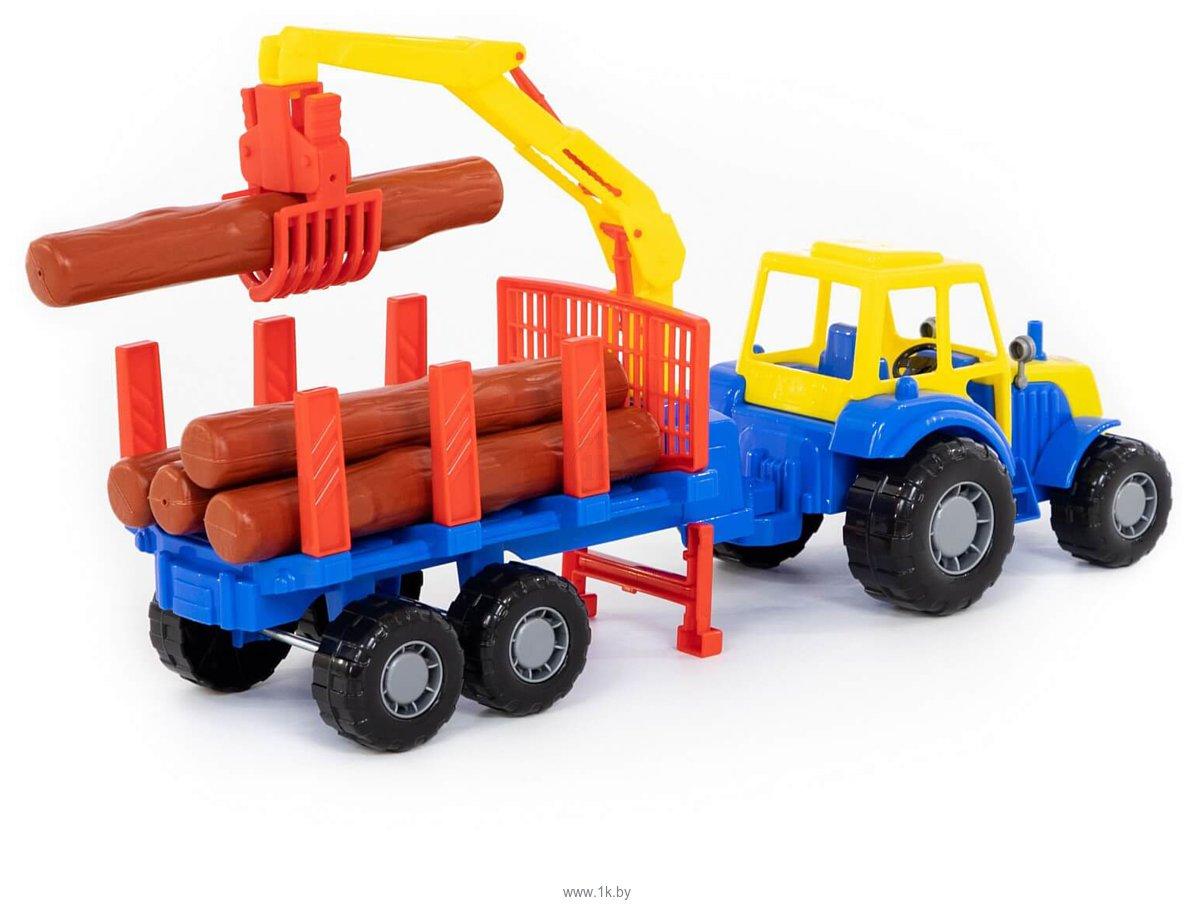 Фотографии Полесье Мастер трактор с полуприцепом-лесовозом 35295