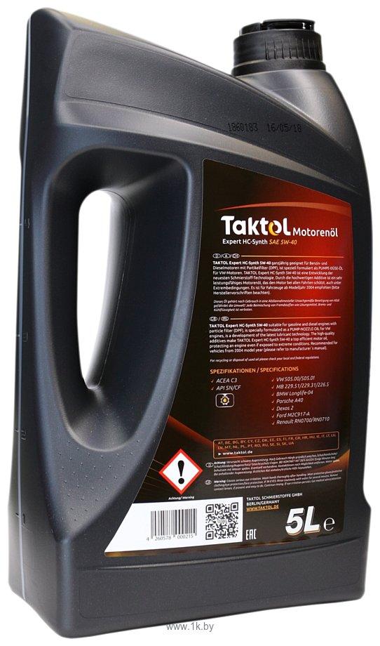 Фотографии Taktol Expert HC-Synth 5W-40 5л