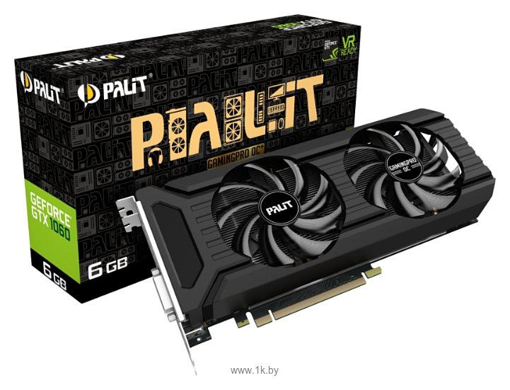 Фотографии Palit GeForce GTX 1060 1531MHz PCI-E 3.0 6144MB 8800MHz 192 bit DVI HDMI HDCP GamingPro OC+