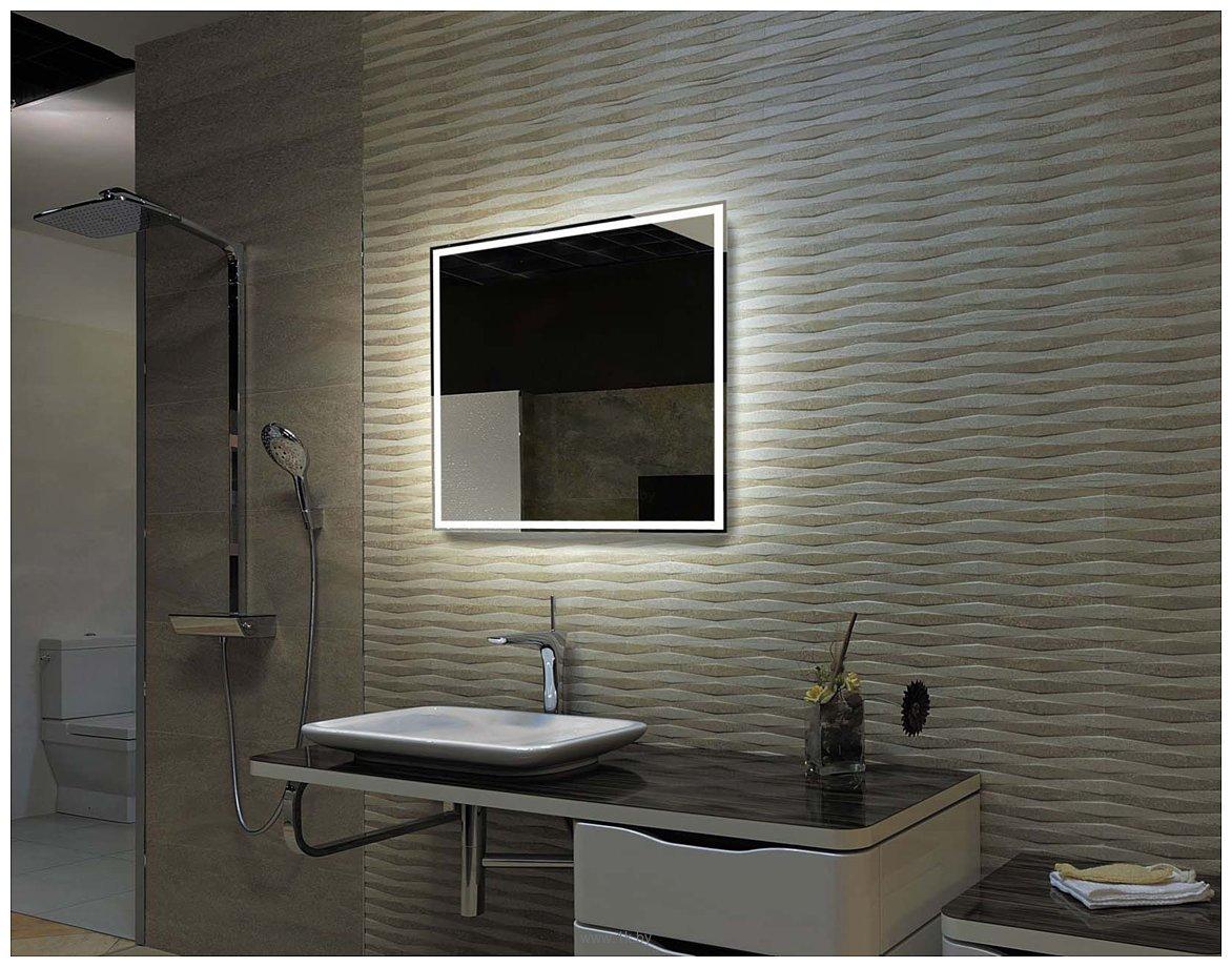 Фотографии Пекам Зеркало с подсветкой Greta 100x80 (с сенсором на зеркале)