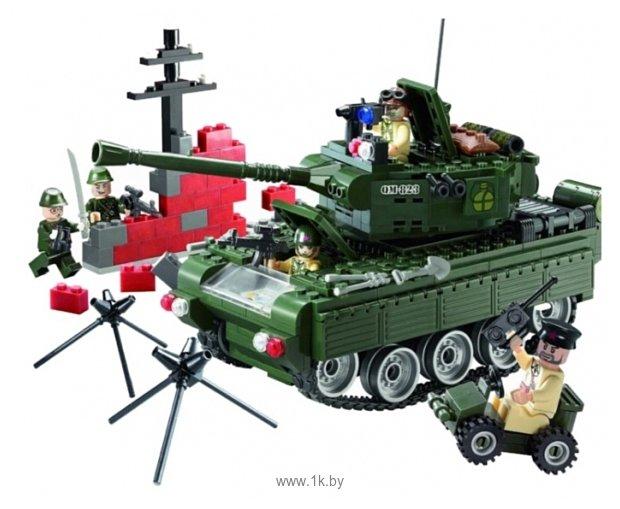 Фотографии Enlighten Brick CombatZones 823 Военный танк