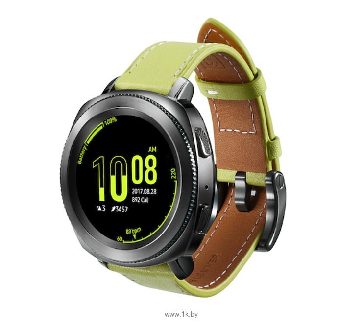 Фотографии Samsung Classic Leather для Galaxy Watch 42mm/Gear Sport (зеленый)