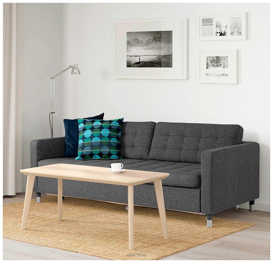 Фотографии Ikea Ландскруна 693.198.78 (гуннаред темно-серый/металл)
