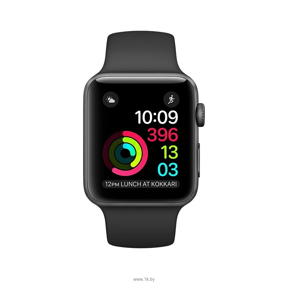 Фотографии Apple Watch Series 2 42mm Space Gray with Black Sport Band (MP062)
