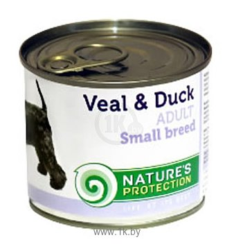 Фотографии Nature's Protection Консервы Dog Adult Small Breed Veal & Duck (0.4 кг) 1 шт.
