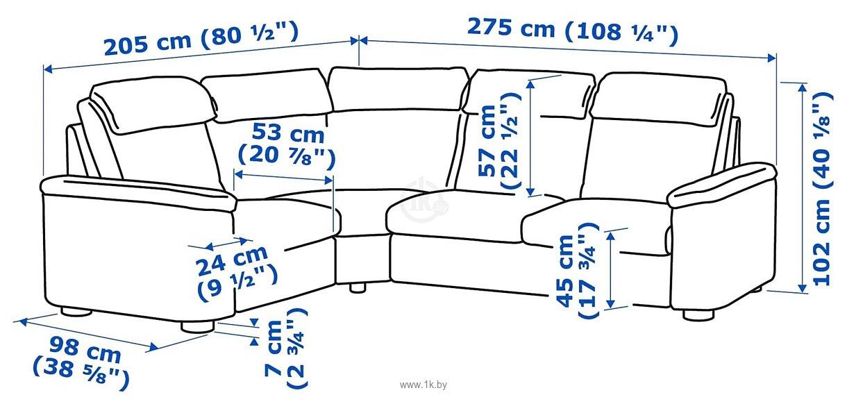 Фотографии Ikea Лидгульт 092.756.22 (золотисто-коричневый)