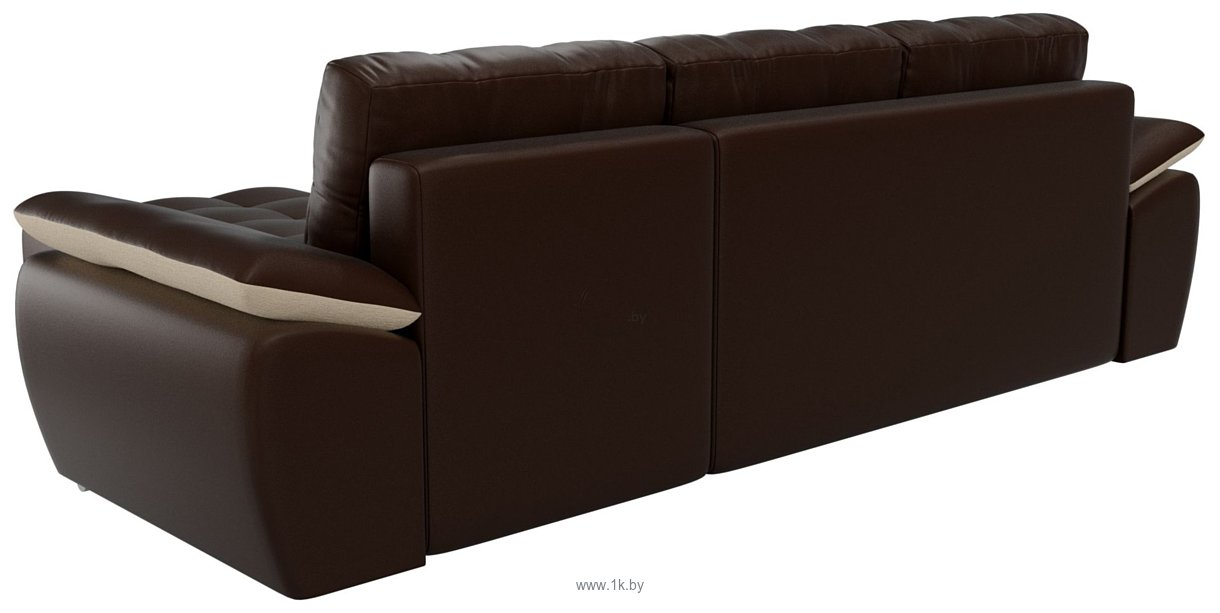 Фотографии Лига диванов Нэстор 100431 (коричневый/бежевый)