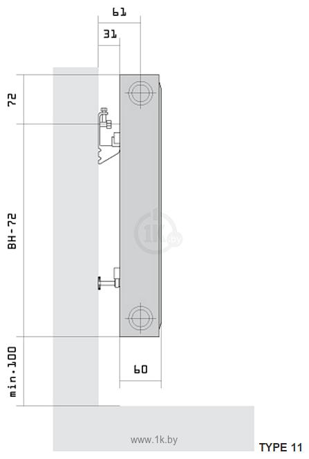 Фотографии Purmo Compact Ventil CV11 500x1200