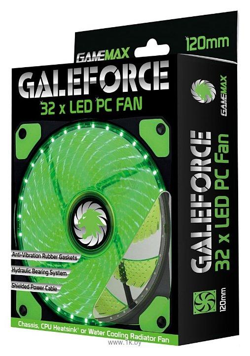 Фотографии GameMax Galeforce 32 x Green LED