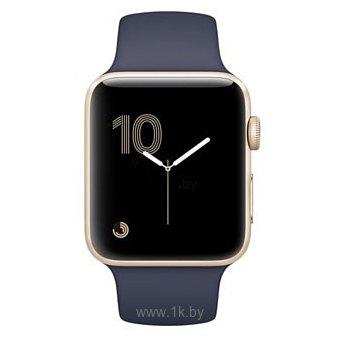 Фотографии Apple Watch Series 2 42mm Gold with Midnight Blue Sport Band (MQ152)