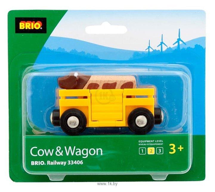 Фотографии Brio Вагон с коровой 33406