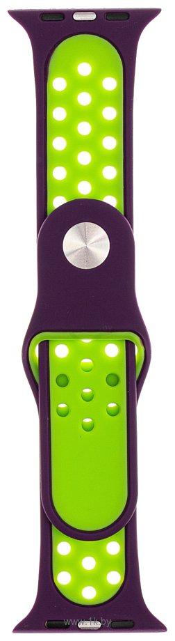 Фотографии Evolution AW40-SP01 для Apple Watch 38/40 мм (dark purple/fluo yellow)