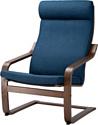 Ikea Поэнг (коричневый/шифтебу темно-синий) 693.028.06