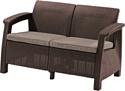 Keter Corfu Love Seat (коричневый)