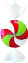 Neon-night Леденец (102 см, белый/красный/зеленый) [502-242]