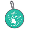 Ледянка мягкая Ника ЛР40 с медвежонком зеленый