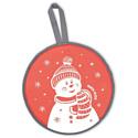 Ледянка мягкая Ника ЛР40 со снеговиком красный
