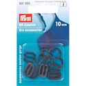 Аксессуары для бюстгальтера 10 мм черный 10 шт Prym 991895