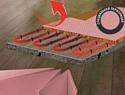 Перфорированная подложка-гармошка для отапливаемых полов из экструдированного полистирола 1,8 мм