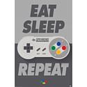 Pyramid International Постер Nintendo (Eat Sleep SNES Repeat)